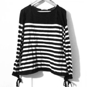 Zara b/w stripe light sweater